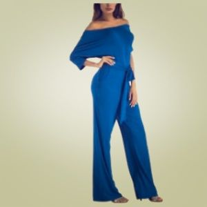 Off the shoulder sexy, casual jumpsuit